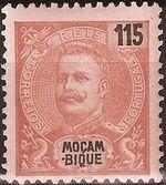 Mozambique 1903 D. Carlos I - New Values and Colors f