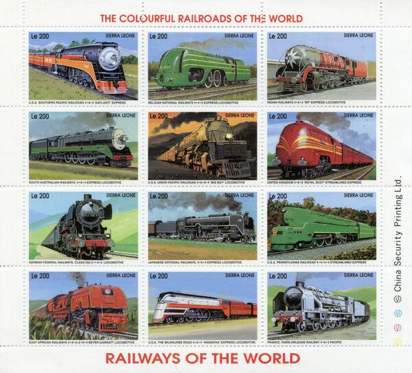 Sierra Leone 1995 Railways of the World Sb