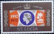 St Lucia 1977 25th Anniversary of the Reign of Elizabeth II a
