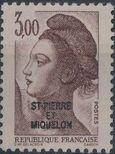 St Pierre et Miquelon 1986 Liberty from France Overprinted ST-PIERRE ET MIQUELON k