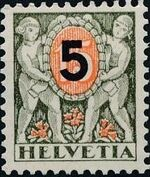 Switzerland 1937 Postage Due Stamps of 1924 Surcharged with New Values a