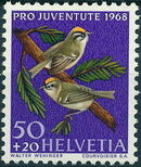 Switzerland 1968 PRO JUVENTUTE - Birds d