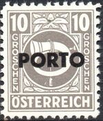 Austria 1946 Occupation Stamps of the Allied Military Government Overprinted in Black e