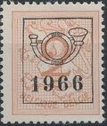 Belgium 1966 Heraldic Lion with Precancellations a