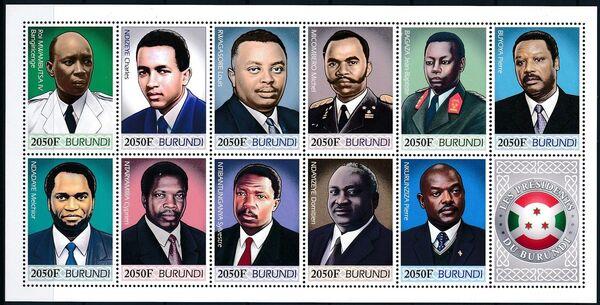 Burundi 2012 Presidents of Burundi o