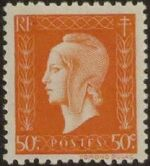 France 1945 Marianne de Dulac (2nd Issue) d