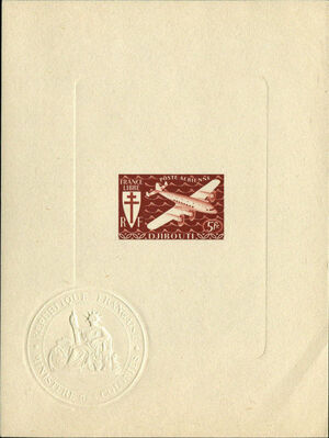 French Somali Coast 1941 Airmail j