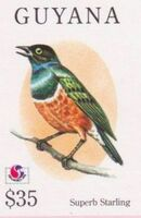 Guyana 1994 Birds of the World (PHILAKOREA '94) ak