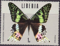 Liberia 1974 Tropical Butterflies a