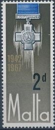 Malta 1967 25th Anniversary Of The George Cross Award a