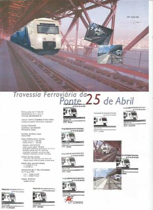 Portugal 1999 Inauguration of Rail Link Over 25th of April Bridge m