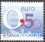Portugal 2002 Euro Coins (Postage Due Stamps) f