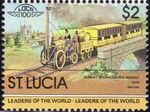St Lucia 1983 Leaders of the World - LOCO 100 x