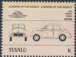 Tuvalu 1984 Leaders of the World - Auto 100 (1st Group) e