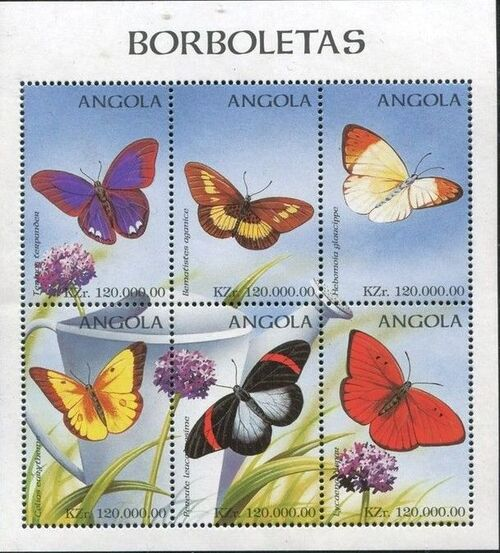 Angola 1998 Butterflies (1st Group) SSa