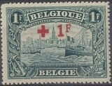 Belgium 1918 King Albert I (Red Cross Charity) k