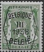 Belgium 1938 Coat of Arms - Precancel (3rd Group) e