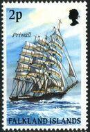 Falkland Islands 1989 Ships of Cape Horn b