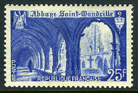 France 1949 Cloister of St. Wandrille Abbey a