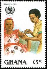 Ghana 1988 UN Universal Immunization Campaign a