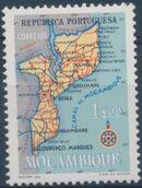 Mozambique 1954 Map of Mozambique d