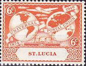St Lucia 1949 75th Anniversary of Universal Postal Union UPU b