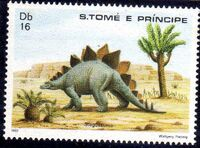 St Thomas and Prince 1982 Dinosaurs b