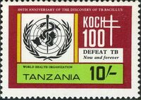 Tanzania 1982 100th Anniversary of Robert Koch's Discovery of Tubercle Bacillus d