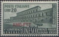 Trieste-Zone A 1950 5th General Conference of UNESCO a