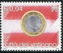 Vatican City 2004 Flags and One-Euro Coins a
