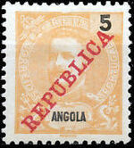 Angola 1911 D. Carlos I Overprinted b