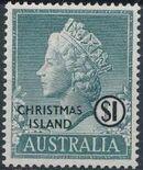 Christmas Island 1958 Queen Elizabeth II j