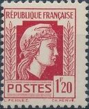 France 1944 Series d'Algiers (Cock of Alger and Marianne of Fernez) m