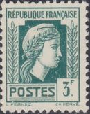 France 1944 Series d'Algiers (Cock of Alger and Marianne of Fernez) p