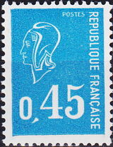 France 1971 Marianne de Béquet (2nd Issue) a