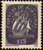 Portugal 1943 Portuguese Caravel (2nd Issue) a