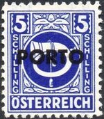 Austria 1946 Occupation Stamps of the Allied Military Government Overprinted in Black o