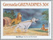 Grenada Grenadines 1988 The Disney Animal Stories in Postage Stamps 2f