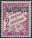 Martinique 1927 Postage Due Stamps of France Overprinted j