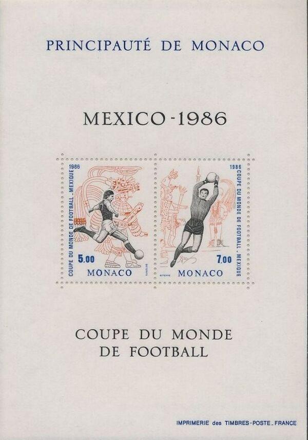 Monaco 1986 World Cup Football Championships c