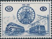 Belgium 1960 75th Anniversary of the National Railway Conferences b