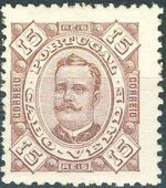 Cape Verde 1893-1895 Carlos I of Portugal d