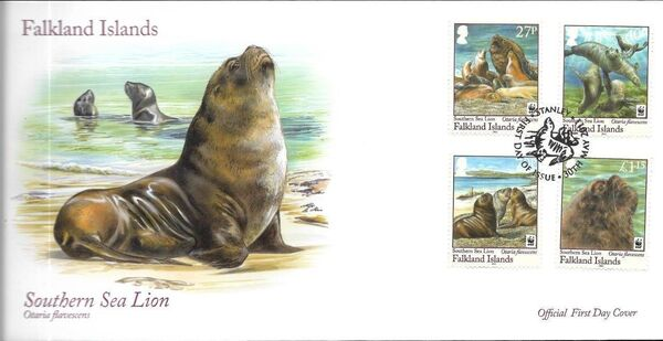 Falkland Islands 2011 WWF - The Southern Sealion FDCa