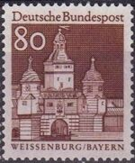 Germany, Federal Republic 1967 Building Structures from Twelve Centuries (2nd Group) h