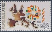 Portugal 1986 Admission of Portugal and Spain in the European Union b