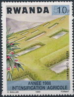 Rwanda 1986 Soil Erosion Prevention (Surcharged and Overprinted) c