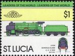 St Lucia 1983 Leaders of the World - LOCO 100 s