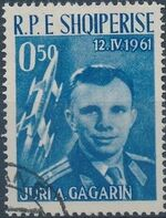 Albania 1962 1st manned space flight - Yuri Gagarin a