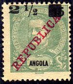 Angola 1912 D. Carlos I Overprinted and Surcharge a