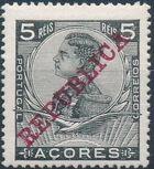 Azores 1911 D. Manuel II Overprinted REPUBLICA b